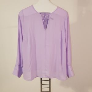 Eloquii Lavender neck tie blouse size 18